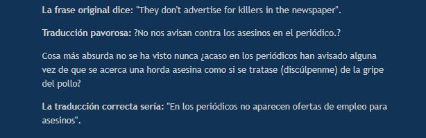 peores traducciones de peliculas blade runner