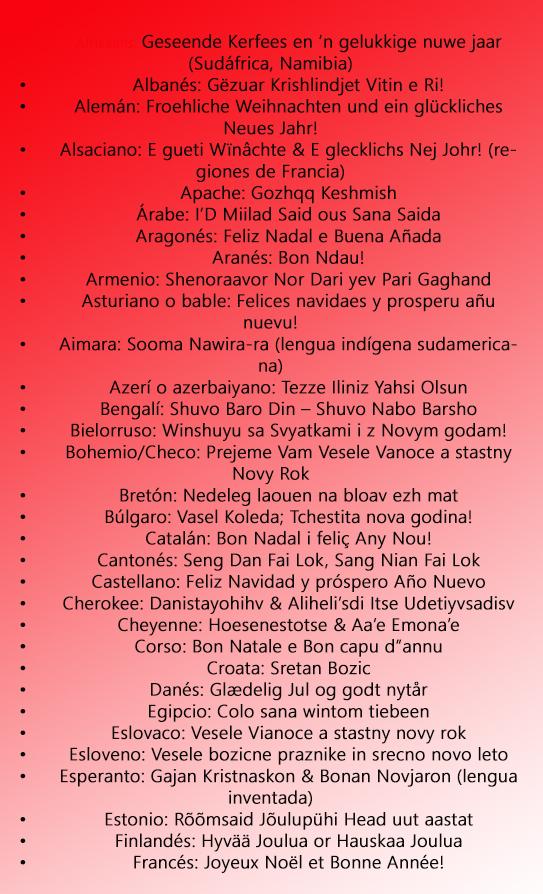 Joyeux Noël en roumain et autres langues