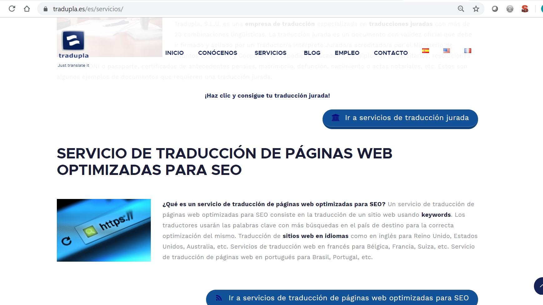 servicios de traduccion